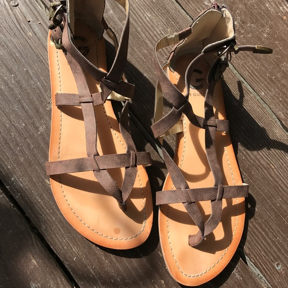 65a5660fabc13 G by Guess Shoes - Guess gladiator sandals 8 buckle zip thong shoes